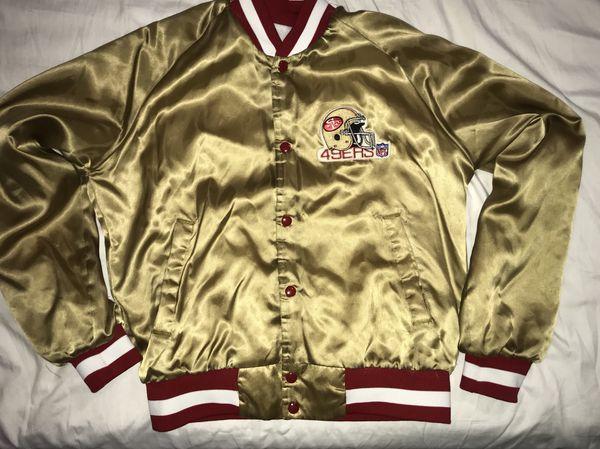 c92d1e21 Vintage San Francisco 49ers satin gold mens Chalkline jacket coat sz Medium  NFL for Sale in San Leandro, CA - OfferUp