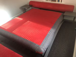 Futon Bed with nightstands (Metal frame with a gift ottoman) for Sale in UNIVERSITY PA, MD