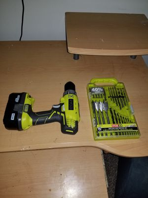 Ryobi Drill and Drillbit set. for Sale in Silver Spring, MD