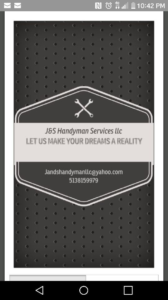 J&S HANDYMAN SERVICES LLC for Sale in Mount Orab, OH - OfferUp