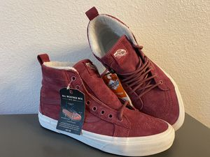 Photo Vans Sk8 Hi MTE Dry Rose Marshmallow Outdoor Skate Shoes Womens Size 7