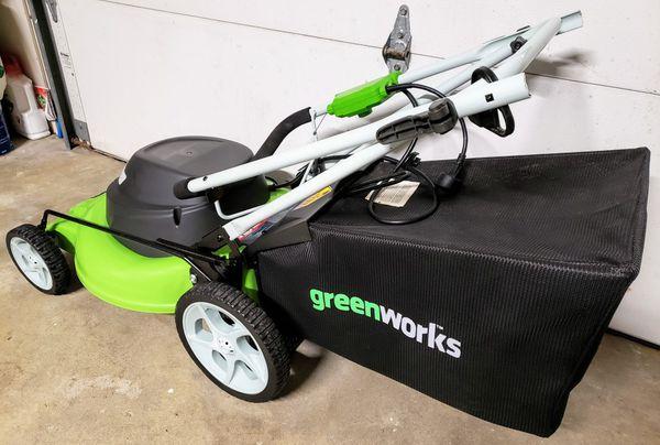 Greenworks 20 Electric Lawnmower Model 25022