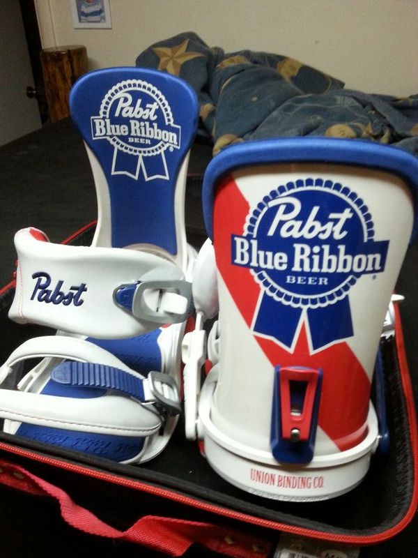 Union Pabst Blue Ribbon Snowboard Bindings For Sale In Roy Ut Offerup