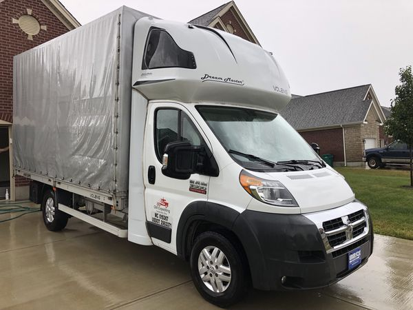 2017 Dodge Ram Promaster 3500 Box Truck Curtain Side Straight