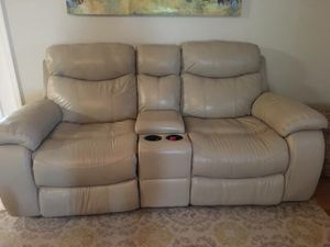Havertys Leather Power Reclining Sofa