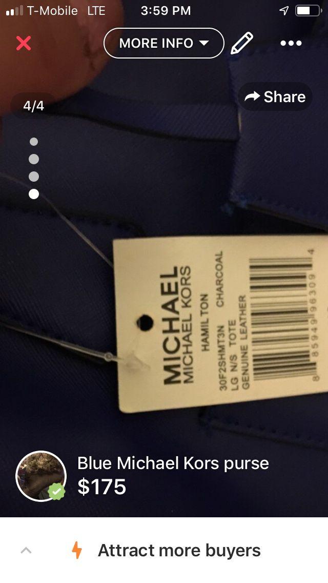 Big blue Michael Kors purse