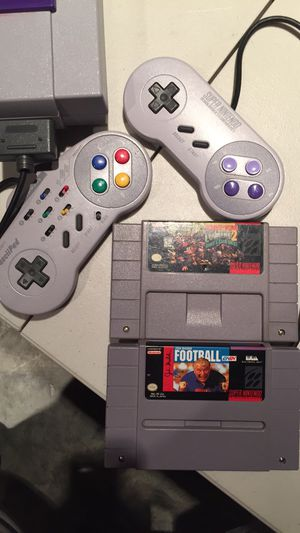 Super Nintendo with 2 Games for Sale in Cedar Hill, MO