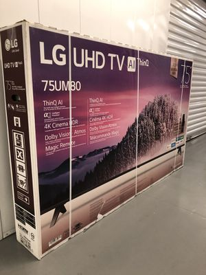 Photo 2019 LG 75 INCH 4K SMART TV 8 SERIES w/THINQ! Free local delivery, 3 month guarantee. DELIVERED RIGHT TO YOUR LIVING ROOM!