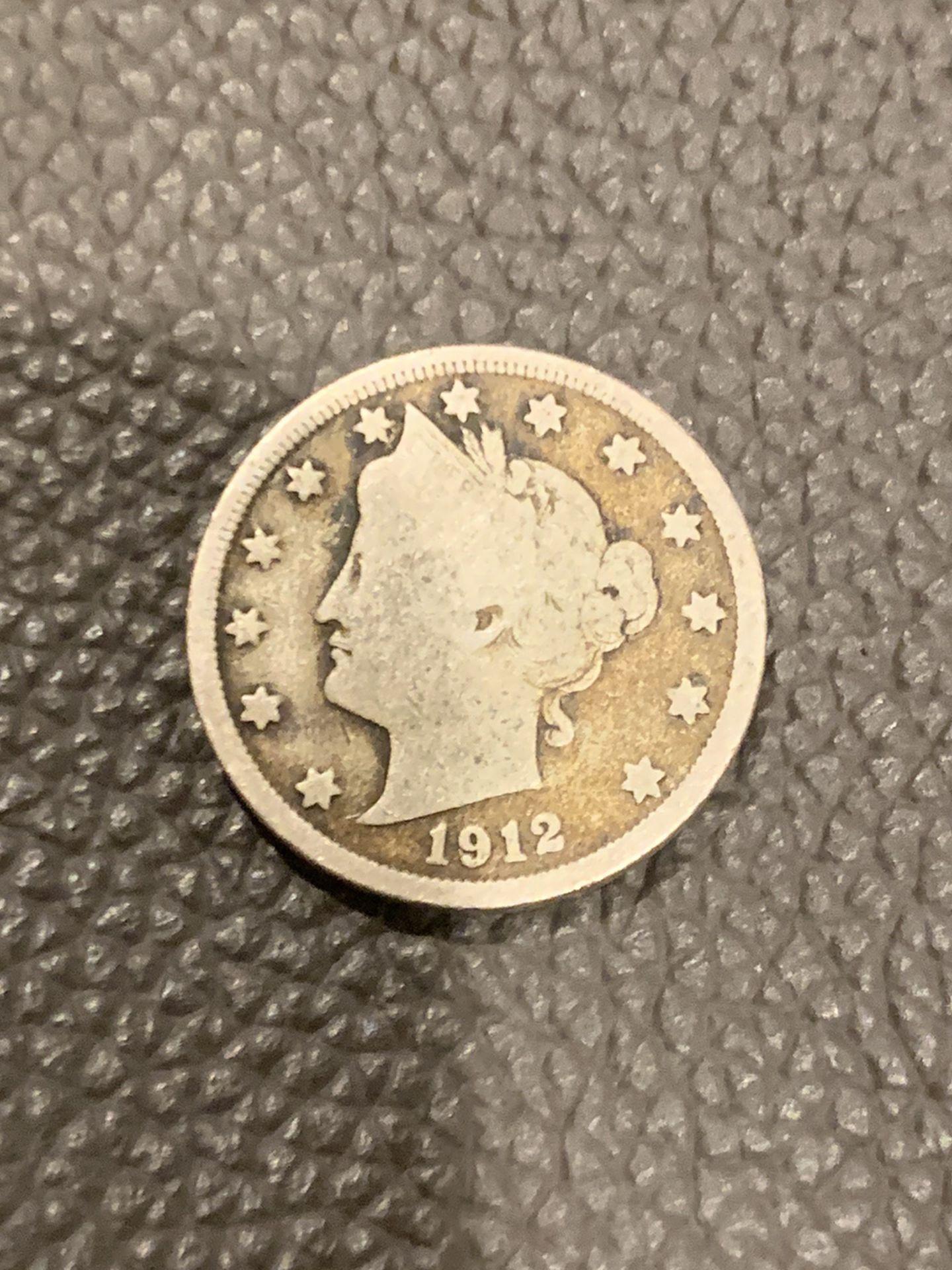 •1912 Liberty Head Nickel•