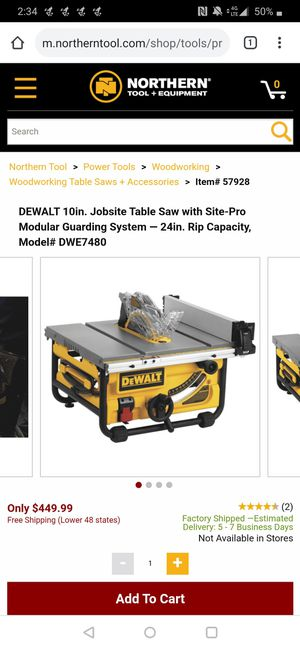 New And Used Table Saws For Sale In Bellevue Wa Offerup
