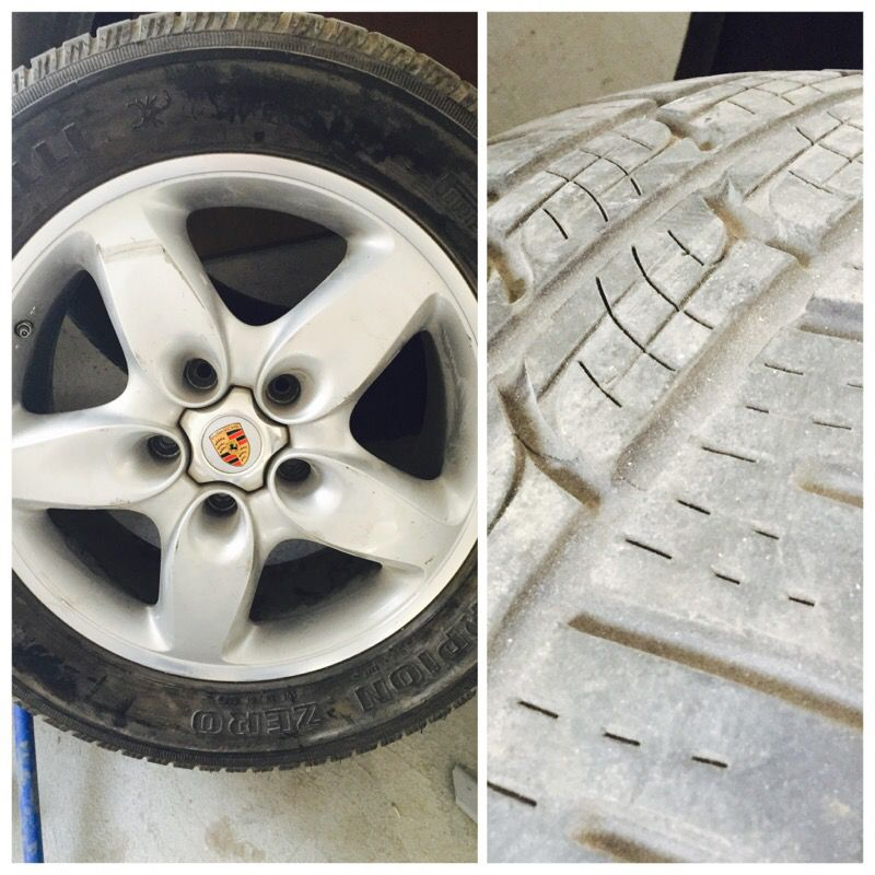 Porsche CayenneS oem Rim and tire 18