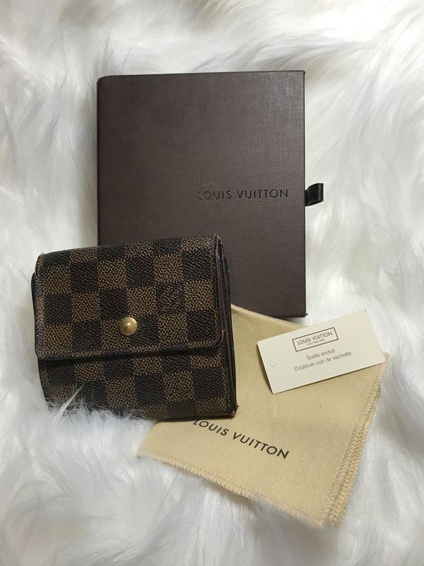 179bb318c8c6 100% Authentic Louis Vuitton Damier Elise Trifold Wallet for Sale in ...