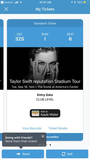 Taylor swift tonight 4 tickets sec 325 row I for Sale in St. Louis, MO