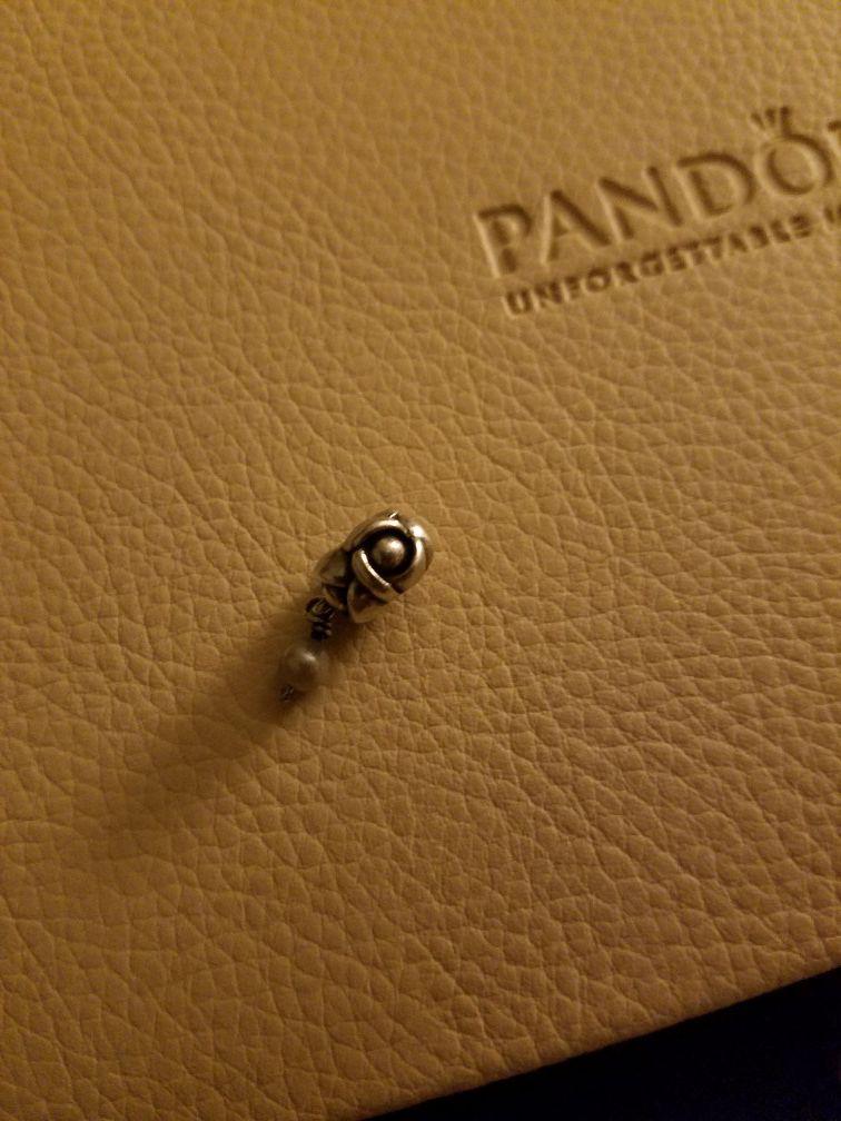 Authentic Pandora My Wish Pearl Dangle charm