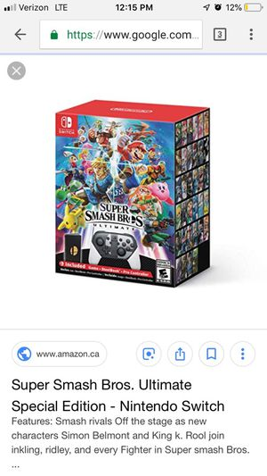 Super smash ultimate edition brand new not opened for Sale in Vienna, VA