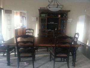 Rowley Creek Dining Table W Leaf 8 Chairs Buffet And China Hutch For Sale In Fallbrook Ca Offerup
