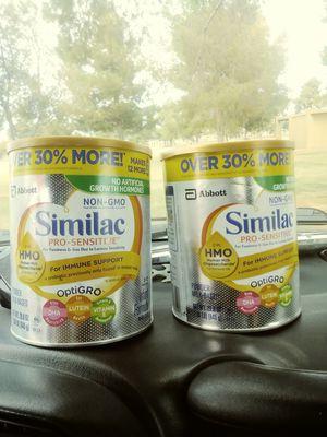 Baby formula. Non-him Similac pro sensitive for Sale in Glendale, AZ