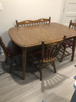 Kitchen Table with a bench and 3 chairs for Sale in Rockville, MD