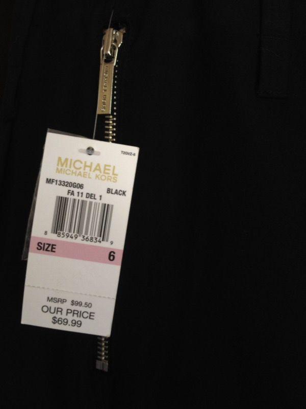Michael Kors Black Pant