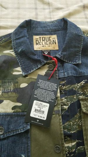 True religion Patched utility shirt Medium for Sale in Adelphi, MD