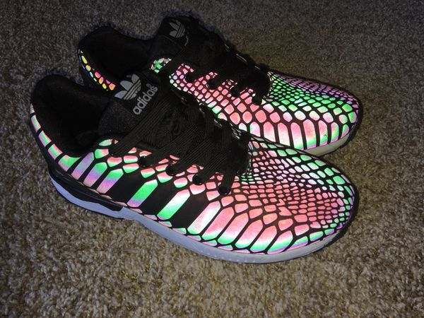 official photos d4047 d2095 Adidas ZX Flux Xeno 3M Reflective Iridescent RARE for Sale in Anaheim, CA -  OfferUp