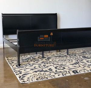 Brand New King Size Black Wood Sleigh Bed Frame for Sale in Silver Spring, MD