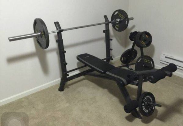 Sa Gear Olympic Weight Bench Weights Bars And Weight Tree For Sale