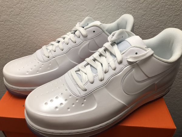 05da24fa8185c Nike AF1 Foamposite Pro Cup Triple White Air Force One AJ3664-100 Men s  Size 11