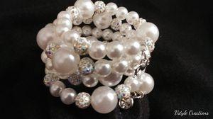 White peral memory bracelet wrap for Sale in Detroit, MI