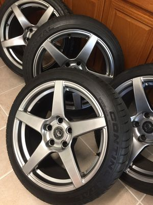 """18"""" Forgestar CF5 5x120 Staggered Wheels with Tires BMW Rims for Sale in Silver Spring, MD"""