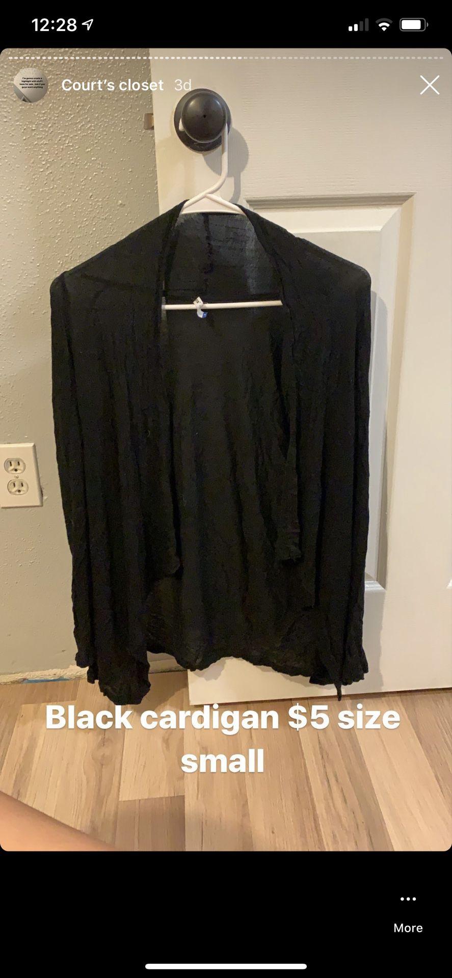 Black cardigan size small