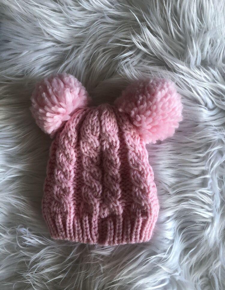 Pink Baby Winter Hat 6-12 Months New