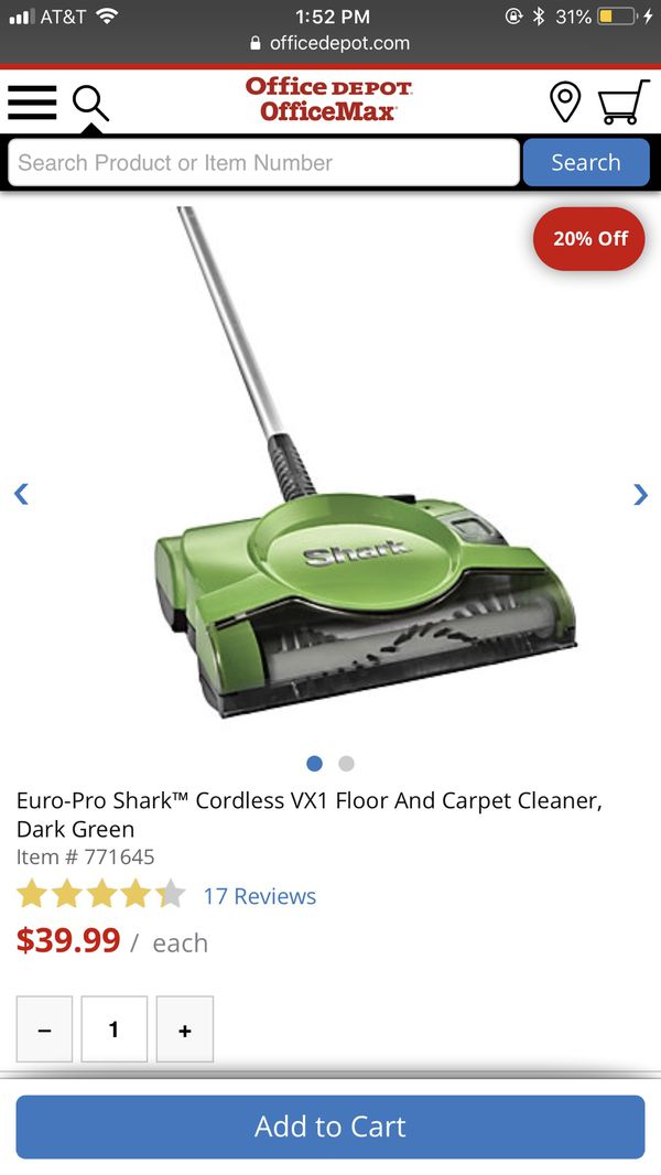 Euro Pro Shark Vx1 Cordless Floor And Carpet Cleaner