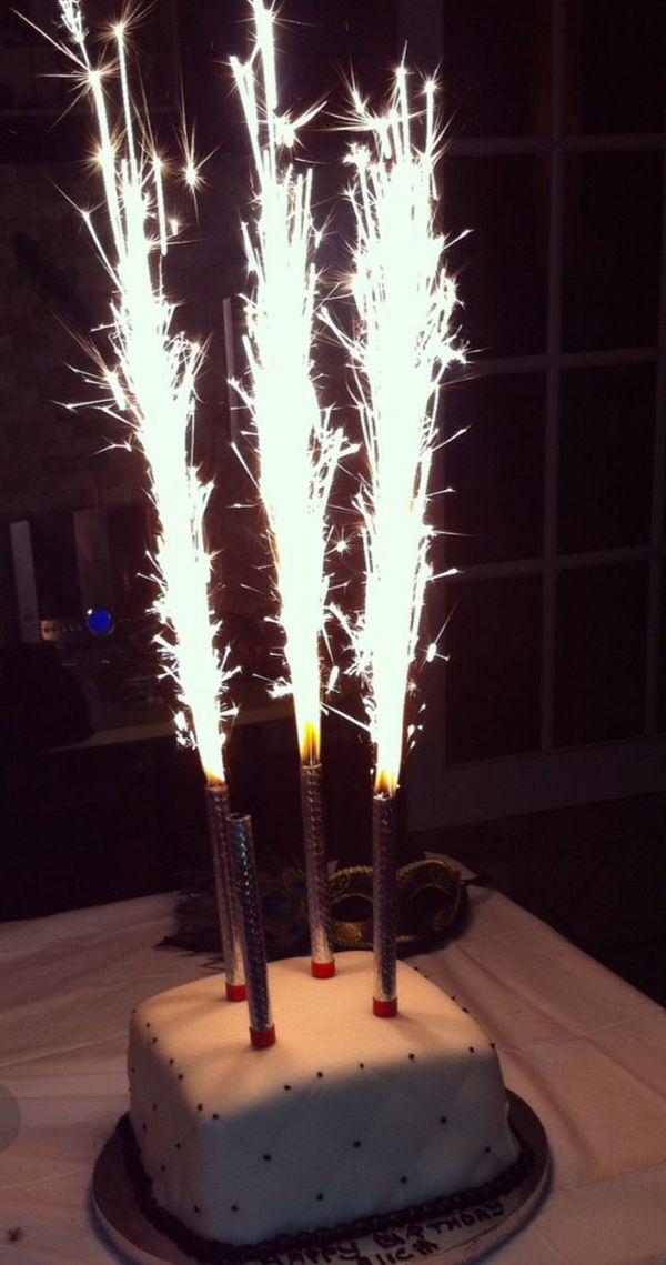 Birthday Cake Sparkling Candle