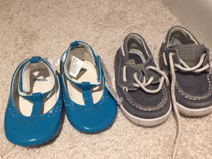 Two pairs size 3 shoes for Sale in Germantown, MD