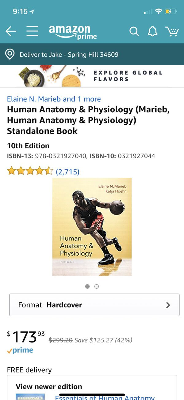 HUMAN ANATOMY AND PHYSIOLOGY TEXTBOOK for Sale in Spring Hill, FL ...