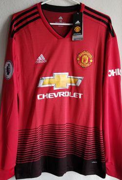 Adidas Mens 2018/19 Man united Home jersey Long sleeves ORIGINAL Thumbnail