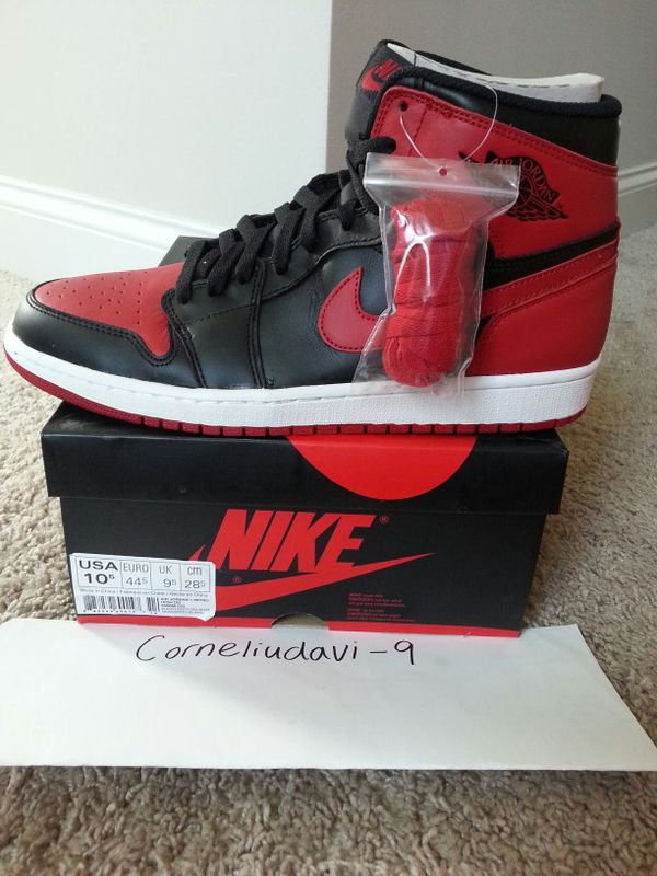 bb78ddd356 2013 Air Jordan 1 BRED Retro size 10.5 for Sale in Raleigh, NC - OfferUp