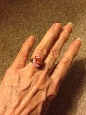 Sterling ring with large pink stone size 6 for Sale in Kissimmee, FL