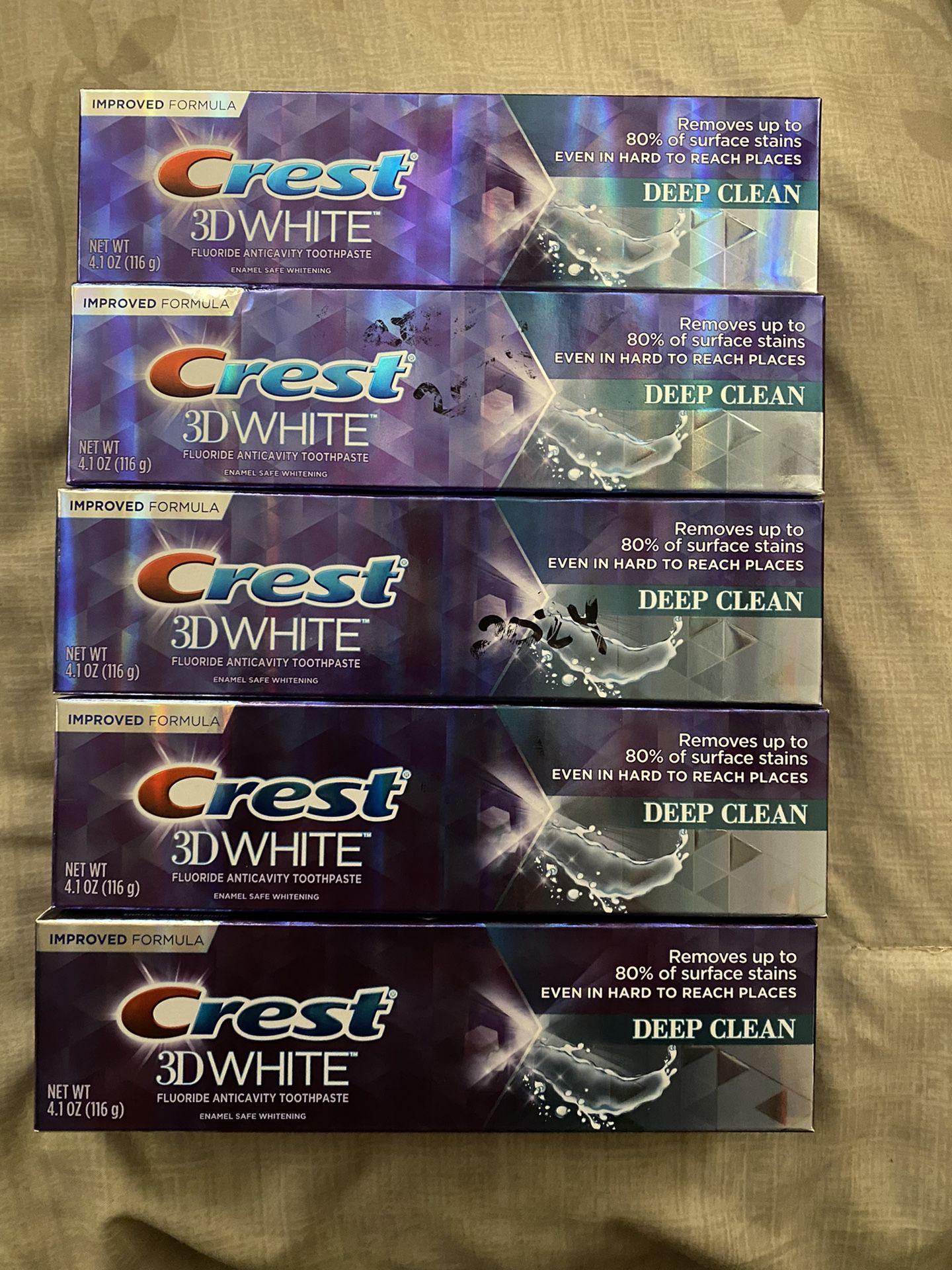 5 Pastas Dental Crest 4.0…0z X