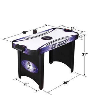 Hathaway Hat Trick 4-Ft Air Hockey Table for Kids and Adults with Electronic and Manual Scoring, Leg Levelers for Sale in Springfield, VA