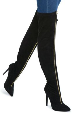 Sz. 9 over the knee boots blk/gold Thumbnail
