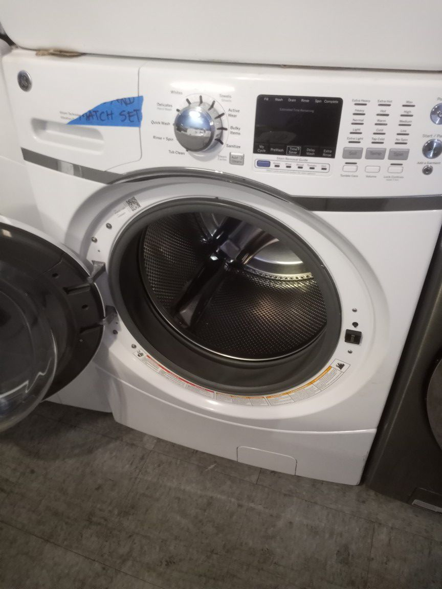 MIX AND MATCH GE FRONT LOAD WASHER AND SAMSUNG DRYER SET WORKING PERFECT W/4 MONTHS WARRANTY