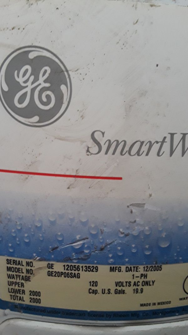 Ge Smart Water Heater Model No Ge20p06sag For Sale In Brooklyn Ny