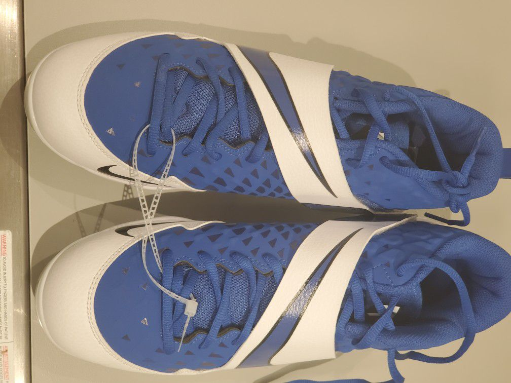 NIKE MENS FORCE ZOOM TROUT BLUE bASEBALL CLEATS 10.5