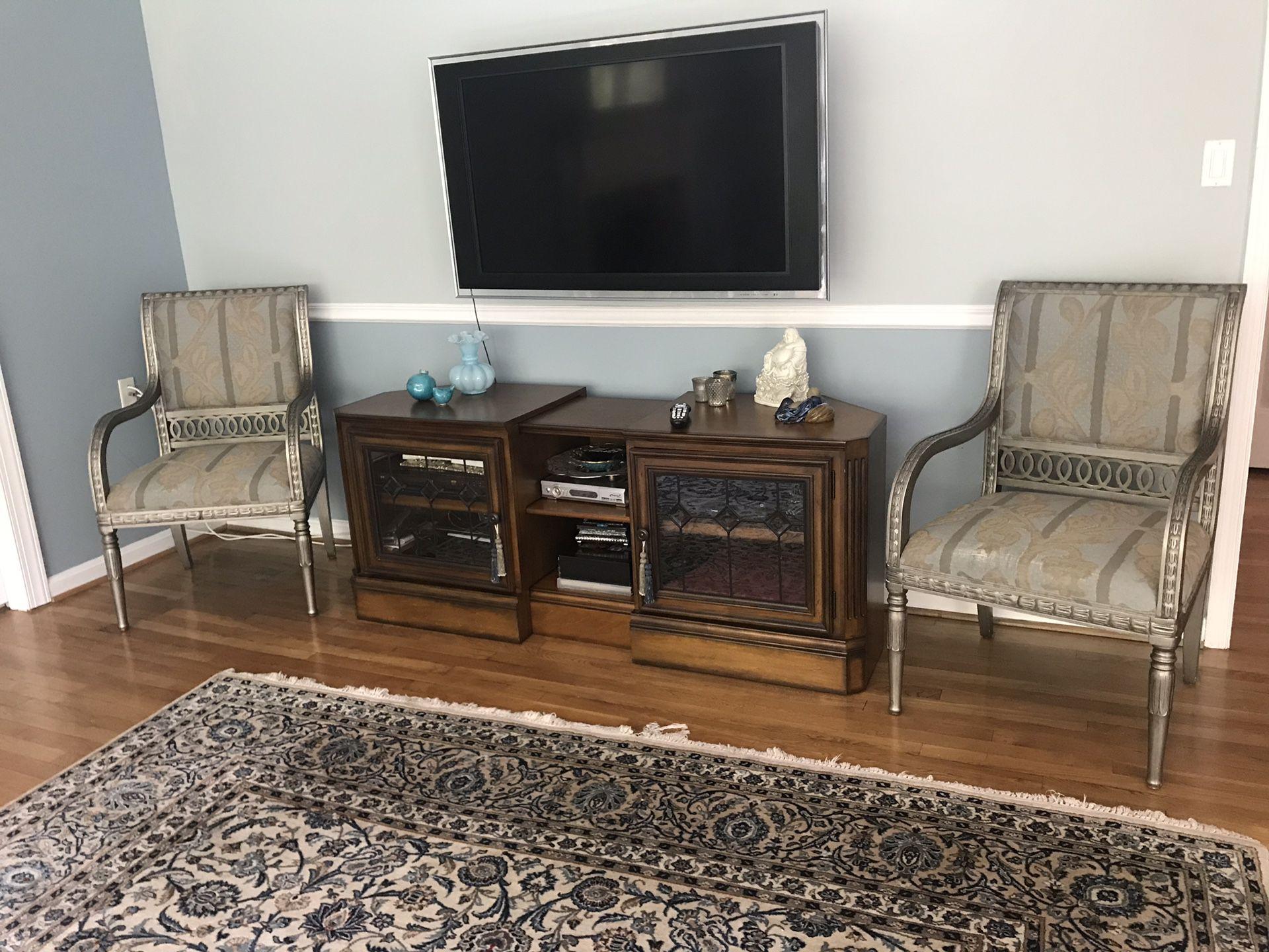 Custom twin chairs