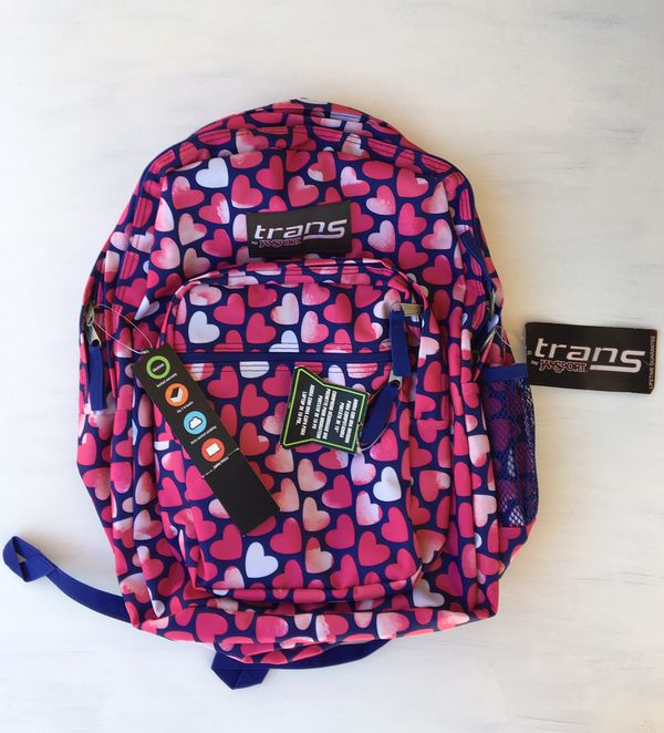 19f4db7880 New pink Trans by Jansport backpack with heats for Sale in ...