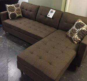 Brand New Brown Linen Sectional Sofa Couch for Sale in Silver Spring, MD