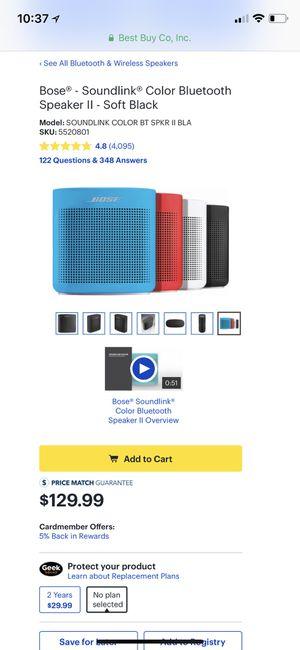 Bose soundlink color 2 wireless speaker Bluetooth for Sale in Orlando, FL