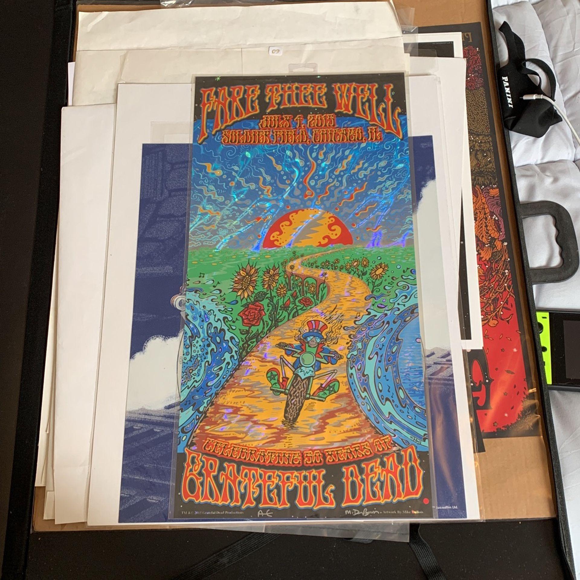 Original LAVA FOIL silkscreen concert poster for The